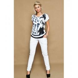 Jeans hlače - bele (S, L, XL)