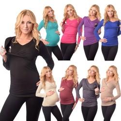 Majica za nosečnost in dojenje 7007 HOT PINK