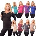 Majica za nosečnost in dojenje z dolgimi rokavi