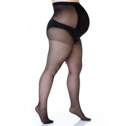 Hlačne nogavice 17 DEN - večja velikost