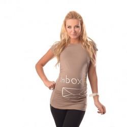 """Kratka nosečniška majica """"INBOX"""""""